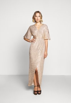 Three Floor - EXCLUSIVE V NECK DRESS - Abito da sera - gold