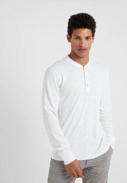 rag & bone - CLASSIC HENLEY - Pitkähihainen paita - white