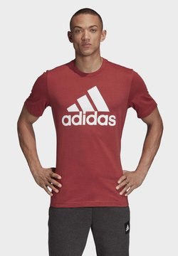 adidas Performance - MUST HAVES BADGE OF SPORT T-SHIRT - T-Shirt print - red