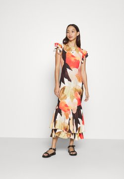 Never Fully Dressed - BROWN ARTIST PRINT FRIDA DRESS - Cocktailjurk - multi