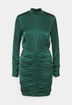 Nly by Nelly - HIGH NECK RUCHE DRESS - Vestido de cóctel - dark green