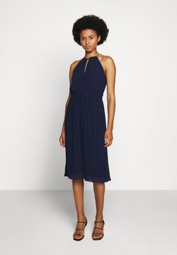 MICHAEL Michael Kors - CHAIN NECK MIDI DRESS  - Cocktailkleid/festliches Kleid - true navy