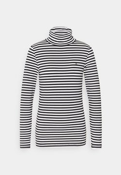 Calvin Klein - STRIPE TURTLE NECK - Langarmshirt - black