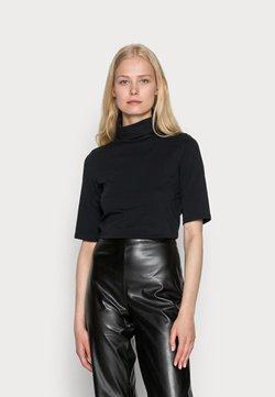 edc by Esprit - ELA ROLL NECK SHORT - T-shirt - bas - black