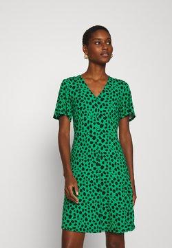 Dorothy Perkins - SPOT BUTTON THROUGH TEA DRESS - Jerseykleid - multicolored