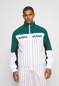 Karl Kani - RETRO BLOCK PINSTRIPE TRACKJACKET - Leichte Jacke - white