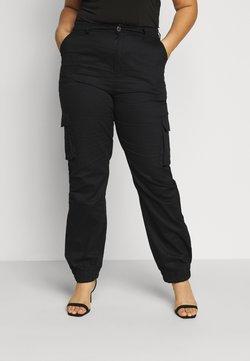 Missguided Plus - TROUSER - Reisitaskuhousut - black