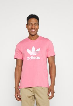 adidas Originals - TREFOIL UNISEX - Camiseta estampada - hazy rose/white