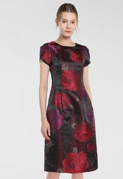 Apart - JAQUARD - Vestido informal - bordeaux-multicolor