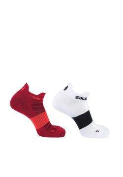 Salomon - PRESANELLA - Sportsocken - red dahlia+white/black