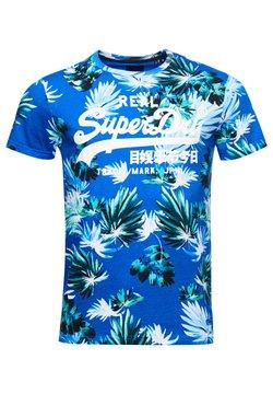 Superdry - T-shirt print - brush palm blue