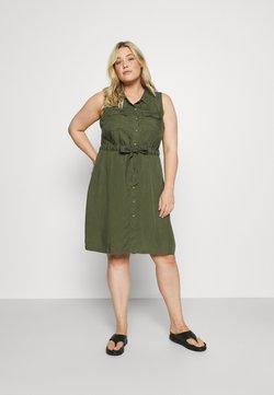 Zizzi - JTAMMY SHIRT DRESS - Day dress - kaki green
