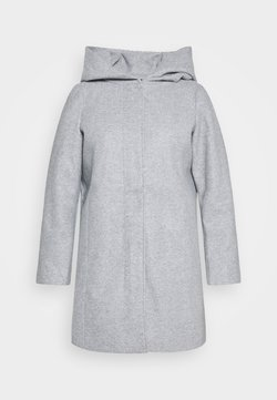 Vero Moda Curve - VMDAFNEDORA JACKET - Wollmantel/klassischer Mantel - light grey melange