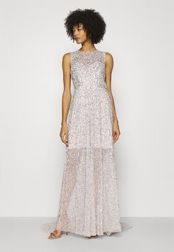 Maya Deluxe - ALL OVER EMBELLISHED MAXI DRESS WITH TRAIN - Ballkleid - soft grey