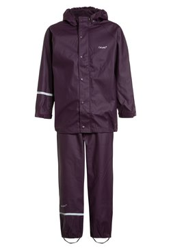 CeLaVi - RAINWEAR SUIT BASIC SET WITH FLEECE LINING - Regnbyxor - blackberry wine