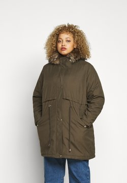New Look Curves - LI HOODED - Parka - khaki
