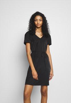Object - OBJEILEEN LACE V-NECK DRESS - Day dress - black