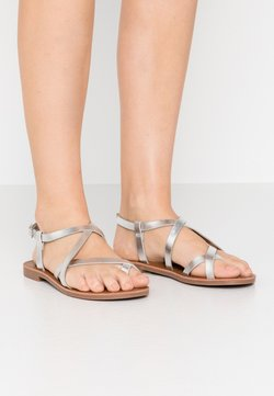 ONLY SHOES - ONLMANDALA CROSSOVER  - Zehentrenner - silver