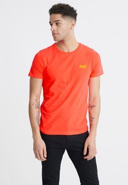 Superdry - NEON LITE TEE - Camiseta básica - volcanic orange