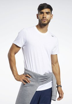 Reebok - TRAINING ESSENTIALS CLASSIC TEE - T-Shirt basic - white