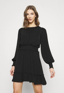 Forever New - JESSICA LONG SLEEVE SMOCK DRESS - Korte jurk - black