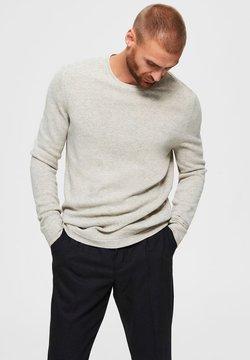Selected Homme - Strikkegenser - light grey melange