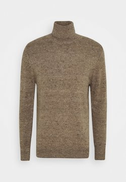 Antony Morato - ROUND COLLAR WITH MELANGE EFFECT - Neule - hazelnut