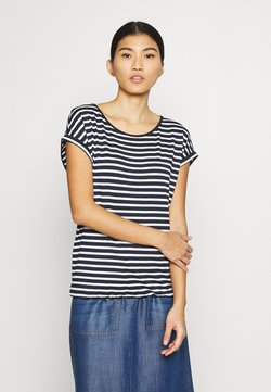 TOM TAILOR - T-SHIRT STRIPED CREW-NECK - T-Shirt print - navy stripe