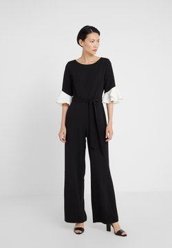 DKNY - BELL SLEEVE WITH TIE BELT - Combinaison - black/ivory