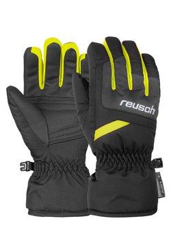 Reusch - BENNET - Fingerhandschuh - blck/blck mel/safety yell