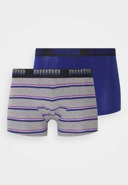 Puma - MEN GRADIENT STRIPE BOXER 2 PACK - Panties - middle grey melange/blue