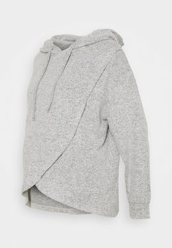 Lindex - NIGHT WRAP MOA - Camiseta de pijama - grey melange
