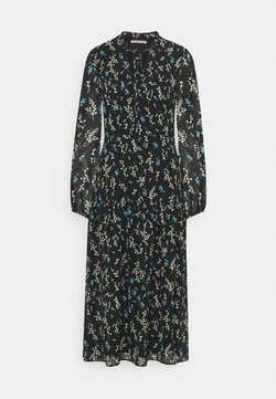 Anna Field - VOLANT MAXI DRESS PRINTED - Freizeitkleid - black/blue