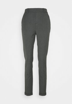 Vero Moda Tall - VMMAYA LOOSE SOLID PANT - Trousers - medium grey melange