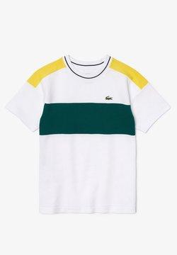 Lacoste - T-shirt print - navy blue white