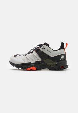 Salomon - X ULTRA 4 GTX - Hiking shoes - lunar rock/black/cherry tomato