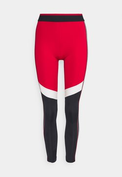 Tommy Sport - FULL LENGTH HERRINGBONE LEGGING - Tights - primary red