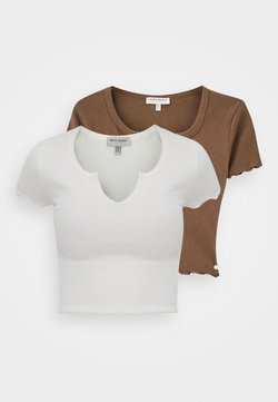 PULL&BEAR - 2 PACK - T-Shirt basic - white