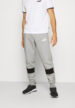 Puma - COLORBLOCK PANTS - Jogginghose - medium gray heather