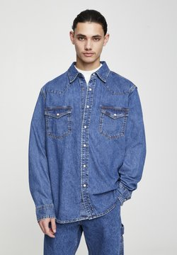 PULL&BEAR - Camicia - mottled dark blue