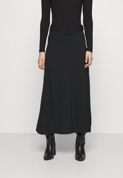 Anna Field - BASIC - Maxi A-line belted skirt - Gonna lunga - black