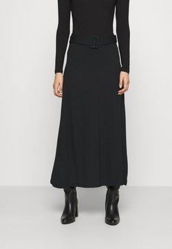 Anna Field - BASIC - Maxi A-line belted skirt - Jupe longue - black