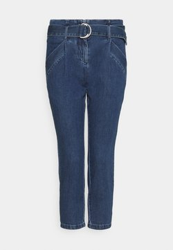 Vero Moda Petite - VMBAILEY PAPERBAG BELT - Jeans baggy - medium blue denim