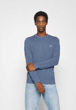 GANT - C NECK - Strickpullover - denim blue