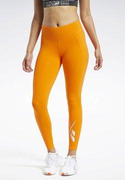 Reebok - REEBOK LUX 2 LEGGINGS - Tights - orange