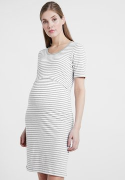 Boob - NIGHT DRESS - Camisón - white/grey melange