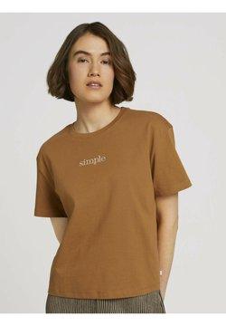 TOM TAILOR DENIM - T-shirt basic - soft camel