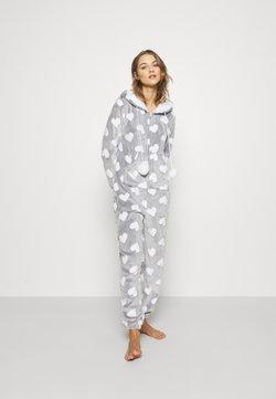 Loungeable - HEART LUXURY HOODED ONESIE - Pyjama - grey