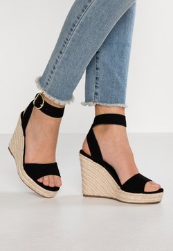 Even&Odd - Korolliset sandaalit - black