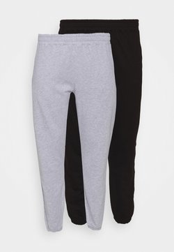 Missguided Plus - JOGGER 2 PACK - Jogginghose - black/grey